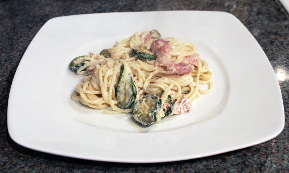 Courgette and Bacon Spaghetti (5/5)